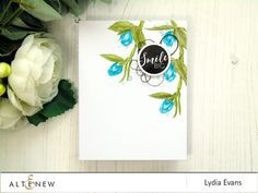 CAS card using Floral Sprig Stamp Set and pencil coloring. www.altenew.com