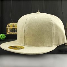 Men Women Baseball Cap Solid Hip-Hop Snapback Flat Peaked Hat Visor Cap