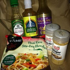 Cheater Pad Thai...add some feta cheese..and it would be perfect!