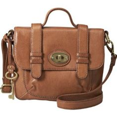 Brown, leather Fossil purse