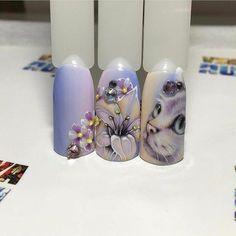 Super Cute Ideas for Summer Nail Art - Nailschick 3d Nail Art, Animal Nail Art, Cute Nail Art, Acrylic Nail Art, Mickey Nails, Nailart, Cat Nails, Beautiful Nail Designs, Purple Nails
