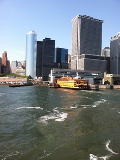 NYC staten island ferry. Interesting. Views of NYC and Statue of Liberty. Near Battery Park.