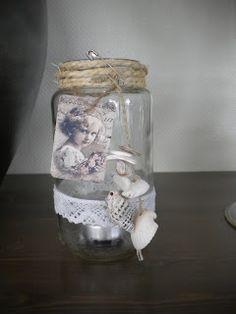 Blomkje en Wenje: Zelfmaakidee/ DIY glazen potjes