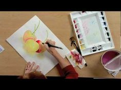 Excellent Watercolor technique: Using washes for shading & to separate objects into different depths back