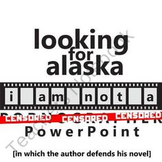 LOOKING FOR ALASKA YouTube Discussion Activity PowerPoint product from CreatedForLearning on TeachersNotebook.com