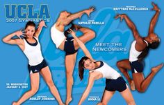 UCLA 2007 Gymnastics Posters, Freshman, Sports, Hs Sports, Excercise, Sport, Exercise