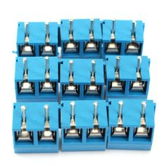 20pcs 2 pinos plug-in parafuso do bloco de terminais conector 5.08 milímetros arremesso