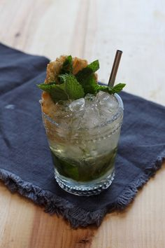 Pineapple Rum Julep: aged rum, pineapple syrup, fresh mint