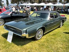 The Ford Thunderbird is manufactured in the U S by the Ford Motor Co. The Thunderbird was never sold as a full-blown sports car. Ford described it as a personal luxury car, a description which named a new market segment. In 1958, the Thunderbird gained a second row of seats for greater practicality. Succeeding generations became larger and more luxurious, until the line was downsized in 1977 and again in 1980. Sales were good until the 1990. http://www.netcarshow.com/ford/1955-thunderbird/