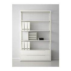 Ikea Shelving unit with drawers, white —
