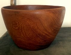 Hand Turned Wood Bowl Vintage Natural Brown by ThatOneThing on Etsy