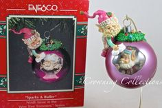 Enesco Sparky and Buffer Wee Tree Trimmers Treasury of Christmas Ornament Amp Elf | eBay