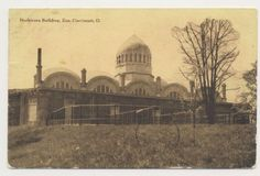 Old-postcard-HERBIVORA-BUILDING-ZOO-CINCINNATI-OHIO-mailed-in-1908