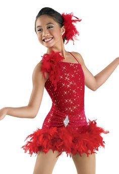 One-Shoulder Glitter Leotard; Weissman Costumes