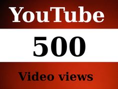 grabagig: give you 500 Youtube video views for $5, on fiverr.com