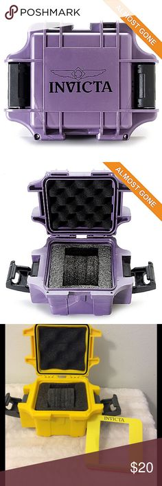 💖INVICTA 1 SLOT Waterproof 💦Watch Case💕 💕Keep your watch safe and secure in this WATERPROOF💦 Case!!💕💕Double Lock 🔐 System💖ULTRA CUSHION INTERIOR for additional Security💎 Invicta Accessories Watches