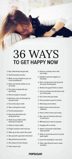 36 Ways to Get Happy Now