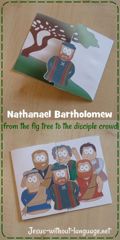 Cute little colour and flip craft for Nathanael Bartholomew joining the disciples crowd.