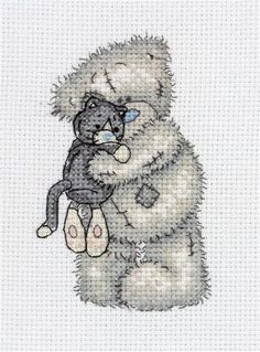 Tatty Teddy Cuddly Cat Counted Cross Stitch Kit