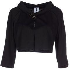 My Secret Black Dress Blazer ($154) ❤ liked on Polyvore featuring outerwear, jackets, blazers, black, black jacket, black blazer and single breasted jacket