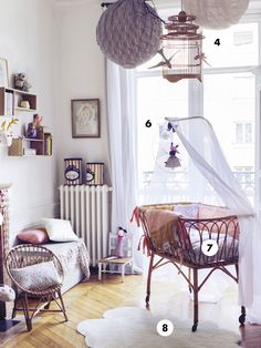 ON PARLE DE NOUS | Atelier du petit parc Nursery Room, Kids Bedroom, Bedroom Decor, Scandinavian Baby Room, Bohemian House, Daughters Room, Kid Spaces, Apartment Design, Decoration