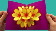Pop-Up Card Flower - Mother's Day Crafts - Tutorial - Pop up card Mother's Day - - YouTube