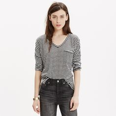 Melody Pocket Tee in Stripe : long sleeve | Madewell