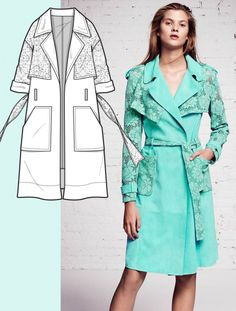 A complete Womenswear view of 29 pages with the MUST HAVE TRENDS of COAT & OUTERWEAR SS17 for Bourgeoise, Flamboyant, Impression and Survivalist themes. Each page includes 1 flat drawing, pantone colors and images that remark KEY TREND. Easy download of editable flat drawings. Cover credit: Blumarine rtw PS16, flat drawing by 5forecastore team. Diy Fashion, Fashion Sandals, Fashion Mode, Fashion 2017, New Fashion Trends, Product Development, Flat Sketches, Fashion Pattern, Trench Coats