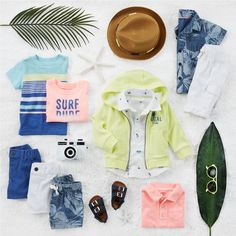 Pack him up early for vacay with these beachy looks.