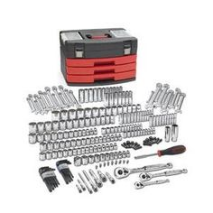 GearWrench (80934) 1/4″, 3/8″ and 1/2″ Drive 239-Piece Mechanics Tool Set  http://www.handtoolskit.com/gearwrench-80934-14-38-and-12-drive-239-piece-mechanics-tool-set/