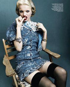 "Daphne Groeneveld ""Mystic Blue"" by Rafael Stahelin Vogue Korea April 2012"