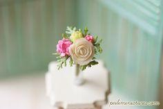 Dollhouse Miniature Flowers White Blooming by miniaturepatisserie
