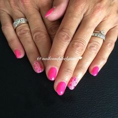 Pink nail design  follow @nailcandybelgium
