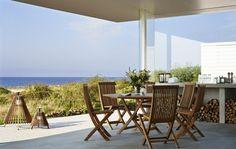 Table de jardin et chaises de jardin en teck Viken par Skargaarden