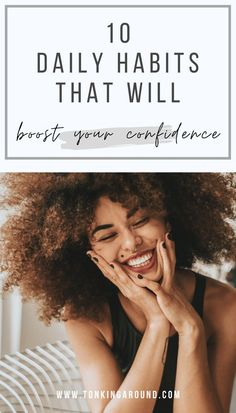 Do you lack confidence and have a low self esteem? These 10 daily habits will help you boost your confidence.All confident and successful women have these habits in common. #confidence #howtobeconfident Building Self Confidence, Confidence Coaching, Habits Of Successful People, Successful Women, Conversation Topics, Low Self Esteem, Working Mother, Good Habits, Self Development