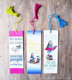 Free Printable Roald Dahl Bookmarks and DIY Mini Tassel Tutorial at…