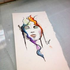 Mente aberta • arte feita para um cliente • #watercolor #watercolortattoo #aquarelatattoo #aquarela #mind #abstract #lcjunior #art #arte #tatuagem #tattoo