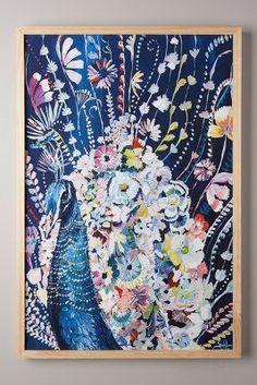 Starla Michelle Halfmann Mooreland Wall Art, Peacock #anthroregistry