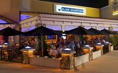 The Blue Martini restaurant and bar in Naples, Florida located in the Mercato.