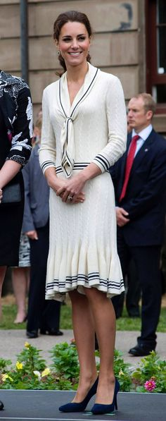 Recycler: Kate wearing the McQueen outfit in Canada