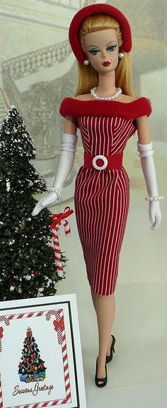 Candy cane Barbie