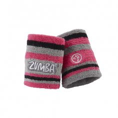 Zumba Fitness Sweat It Wristbands - 2 Pack - Pink and Grey - FUNKtional Wearables