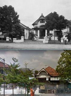 Huizen, waaronder dat van fotografe Titi Francken, in de wijk Kramat te Batavia, 1914 1925, ,.,  Rumah di jl Kramat Raya, Jakarta, 2017 Indonesian Art, Dutch East Indies, Old Pictures, Jakarta, Art Forms, Colonial, Past, History, House Styles