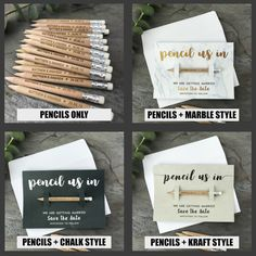 Pencil Us In Save the Dates Personalised Wedding Invitations