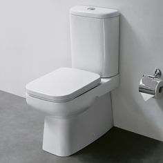 Constance Back to Wall CC Toilet and Cistern with Soft Close Seat at Victorian Plumbing UK Close Coupled Toilets, Back To Wall Toilets, Round Corner, Amazing Bathrooms, Plumbing, Basin, Contemporary Design, New Homes, Victorian