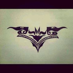 Batman Tribal Drawing. By (Twitter: @lunababie4)