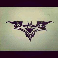 Batman Tribal Drawing. By (Twitter: @lunababie4)