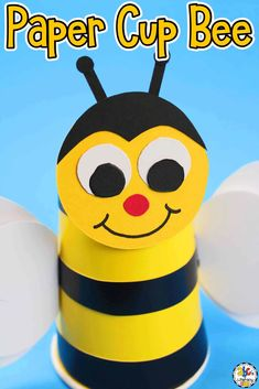 Celebrate the beginning of Spring by making this Paper Cup Bumble Bee Craft. The free printable template makes creating this craft easy for all ages.