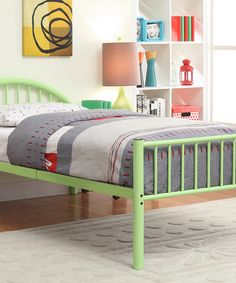 Apple Green Arrie Full Panel Bed by Furniture of America #zulily #zulilyfinds