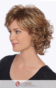 The Colleen wig, by Estetica Designs is features wavy locks that sit just above the shoulder. Layered sides add a natural and flirty appeal to the wig, while the wavy back contributes just the right a